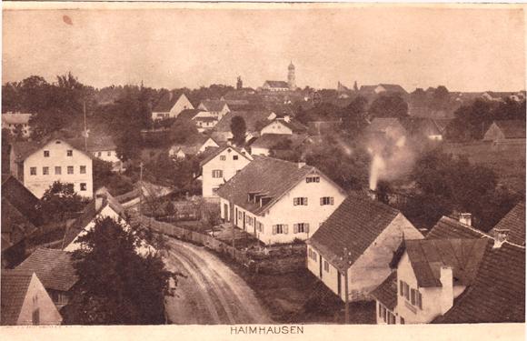 Haimhausen, Dorfstraße um 1911